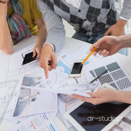 Cropped image of design team planning a new project